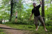 Balansa Slackline: Hoja po gurtni